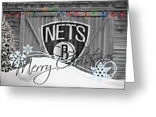 BROOKLYN NETS Greeting Card by Joe Hamilton