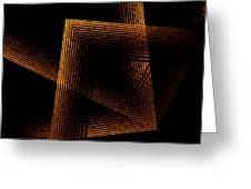 Brown And Black In Lines Greeting Card by Mario Perez