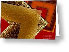 Brownish Design Greeting Card by Mario Perez