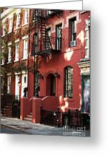 Brownstone Greeting Card by John Rizzuto