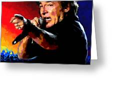 Bruce Springsteen Greeting Card by Allen Glass