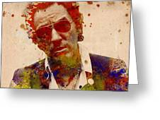 Bruce Springsteen Greeting Card by MB Art factory