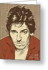 Bruce Springsteen Pop Art Greeting Card by Jim Zahniser