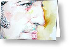 BRUCE SPRINGSTEEN PROFILE portrait Greeting Card by Fabrizio Cassetta