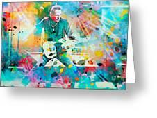 Bruce Springsteen Greeting Card by Rosalina Atanasova