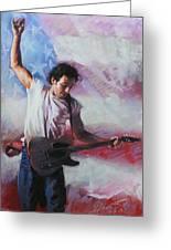 Bruce Springsteen The Boss Greeting Card by Viola El