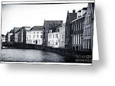 Bruges Canal Scene Ix Greeting Card by John Rizzuto