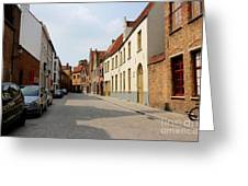 Bruges Side Street Greeting Card by Carol Groenen