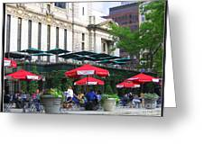 Bryant Park At Noon Greeting Card by Photographic Art and Design by Dora Sofia Caputo