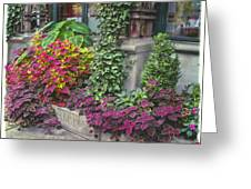 Bryant Park Grill 3 Greeting Card by Muriel Levison Goodwin