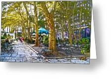 Bryant Park October Greeting Card by Liz Leyden