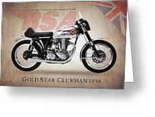 Bsa Gold Star 1954 Greeting Card by Mark Rogan