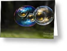 Bubble Perspective Greeting Card by Darcy Michaelchuk