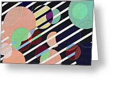 Bubble Universe Greeting Card by Linda Dunn