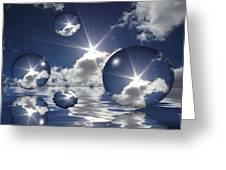 Bubbles In The Sun Greeting Card by Shane Bechler