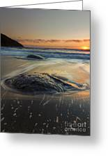 Bubbles On The Sand Greeting Card by Mike  Dawson
