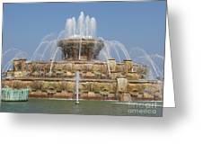 Buckingham Fountain - Chicago Greeting Card by Ann Horn