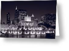 Buckingham Fountain Panorama Greeting Card by Steve Gadomski