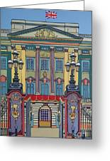 Buckingham Palace Greeting Card by Nicky Leigh
