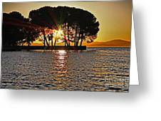 Buckingham Point Sunset 2 Greeting Card by Cheryl Young
