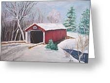 Bucks County Covered Bridge Greeting Card by Lucia Grilletto