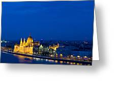 Budapest Greeting Card by Kobby Dagan