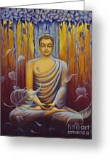Buddha Meditation Greeting Card by Yuliya Glavnaya