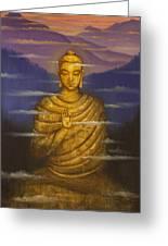 Buddha. Passing Clouds Greeting Card by Vrindavan Das
