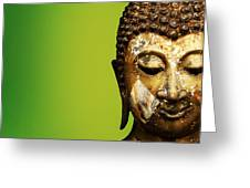 Buddha Portrait  Greeting Card by Thanes