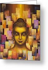 Buddha. Rainbow Body Greeting Card by Yuliya Glavnaya