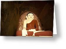 Buddha Statue In Dhammayangyi Paya Temple Greeting Card by Ruben Vicente