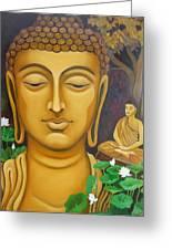 Buddha Greeting Card by Vishwajyoti Mohrhoff