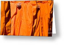 Buddhist Monks 03 Greeting Card by Rick Piper Photography