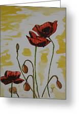 Budding Poppies Greeting Card by Marcia Weller-Wenbert