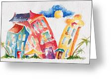 Buddy Buildings Greeting Card by Pat Katz