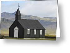 Budir Church Stadarsveit, Snaefellsnes Greeting Card by Michael Thornton