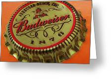 Budweiser Cap Greeting Card by Tony Rubino