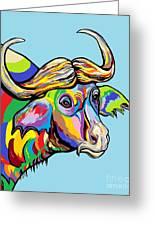 Buffalo Greeting Card by Eloise Schneider