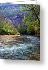 Buffalo River Downstream Greeting Card by Marty Koch
