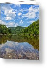 Buffalo River Majesty Greeting Card by Bill Tiepelman