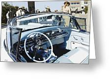 Buick Roadmaster 1957 Dash Greeting Card by Curt Johnson