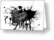 Bull Breakout Greeting Card by Daniel Hagerman