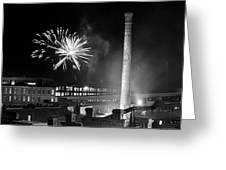 Bull Durham Fireworks Greeting Card by Jh Photos