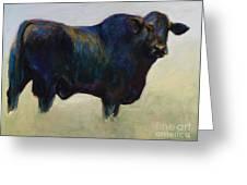 Bull Greeting Card by Frances Marino