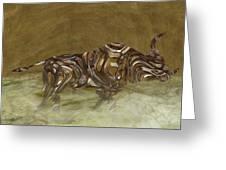 Bull Greeting Card by Jack Zulli