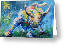 Bull Market X Greeting Card by John Henne