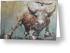 Bull Market Y Greeting Card by John Henne
