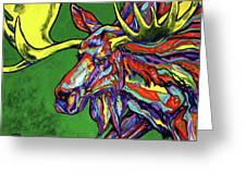Bull Moose Greeting Card by Derrick Higgins
