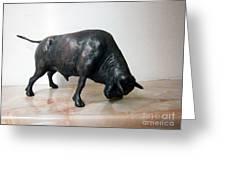 Bull Greeting Card by Nikola Litchkov