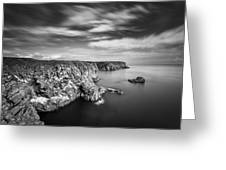 Bullers Of Buchan Cliffs Greeting Card by Dave Bowman